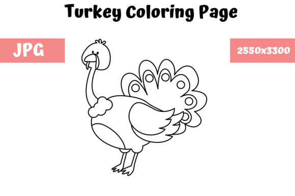 Print on Demand: Coloring Page for Kids - Turkey Graphic Coloring Pages & Books Kids By MyBeautifulFiles