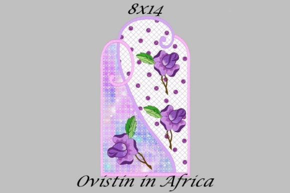Cute Purple Floral Applique Placemat Sewing & Crafts Embroidery Design By Ovistin in Africa