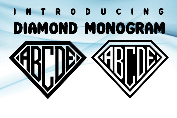 Print on Demand: Diamond Monogram  Decorative Font By vladimirnikolic