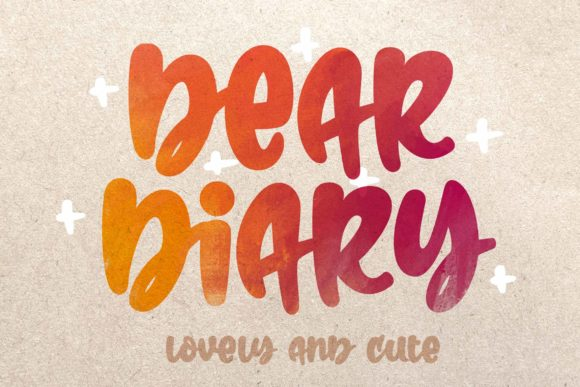 Print on Demand: Dear Diary Script & Handwritten Font By Mikunero - Image 1