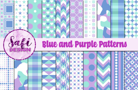 Download Free Digital Papers Blue And Purple Pattern Graphic By Safi Designs for Cricut Explore, Silhouette and other cutting machines.