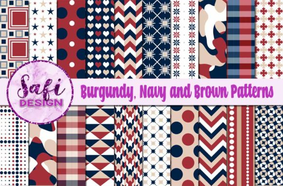 Print on Demand: Digital Papers Pattern Backgrounds Graphic Backgrounds By Safi Designs