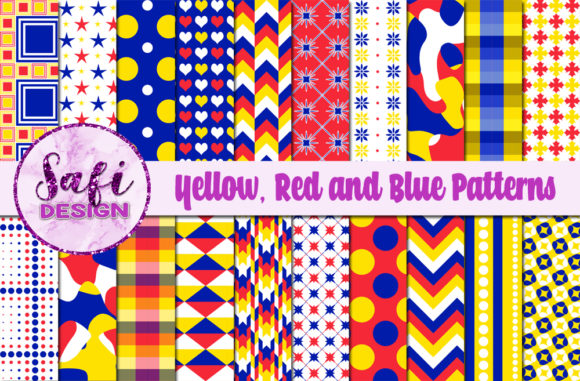 Print on Demand: Digital Papers Patterned Backgrounds Graphic Backgrounds By Safi Designs