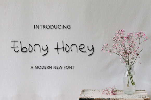 Download Free Ebony Honey Font By Morningmondayy Creative Fabrica for Cricut Explore, Silhouette and other cutting machines.