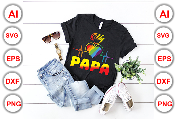Download Free Father Papa Daddy T Shirt Design Graphic By Graphics Cafe for Cricut Explore, Silhouette and other cutting machines.