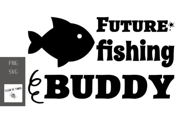 Print on Demand: Future  Fishing Buddy Graphic Print Templates By Fleur de Tango
