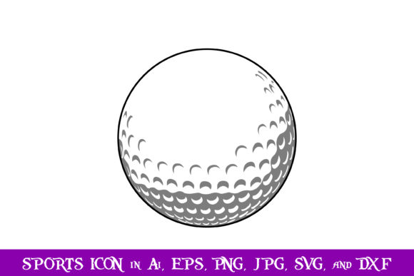 Print on Demand: Golf Ball Sport Icon Graphic Icons By purplespoonpirates