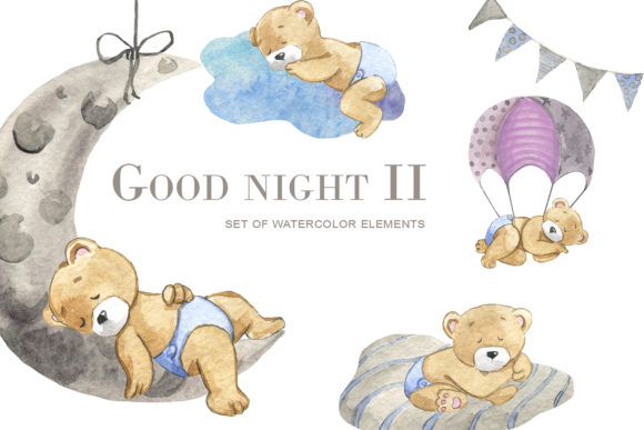 Print on Demand: Good Night 2 Gráfico Ilustraciones Por laffresco04