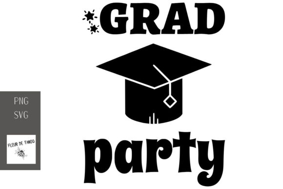 Download Free Grad Party Graphic By Fleur De Tango Creative Fabrica for Cricut Explore, Silhouette and other cutting machines.