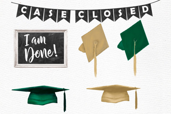 Graduate Students Clipart Graphic Illustrations By LeCoqDesign - Image 4