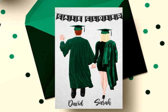 Graduate Students Clipart Graphic Illustrations By LeCoqDesign - Image 5