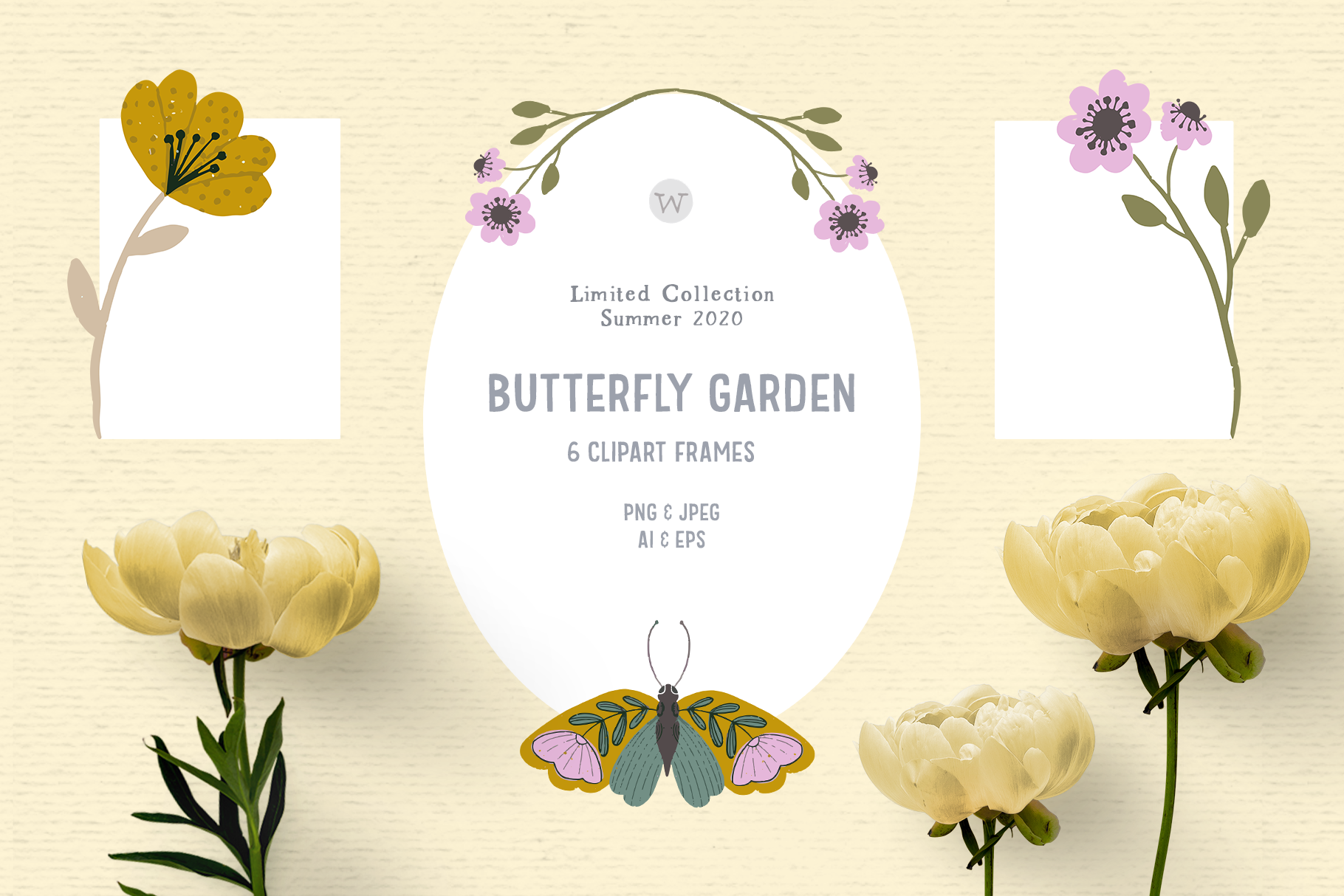 Download Free Hand Drawn Floral Frame Clipart Graphic By Wallifyer Creative Fabrica for Cricut Explore, Silhouette and other cutting machines.