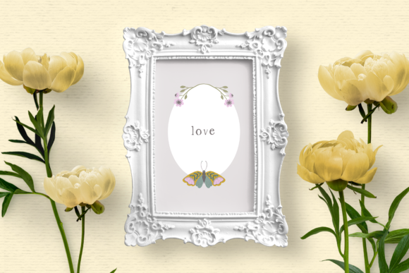 Print on Demand: Hand-drawn Floral Frame Clipart Graphic Illustrations By Wallifyer - Image 4