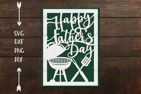 Happy Father's Day Card Papercut   Graphic Crafts By Cornelia