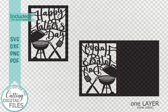 Download Free Happy Father S Day Card Papercut Graphic By Cornelia Creative for Cricut Explore, Silhouette and other cutting machines.