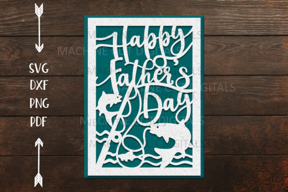 Download Free Happy Father S Day Cut Out Card Graphic By Cornelia Creative SVG Cut Files