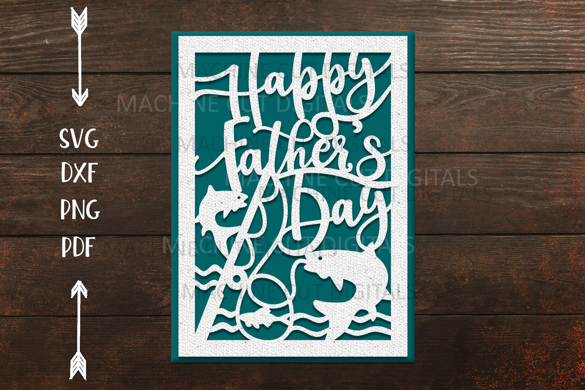 Happy Father's Day Cut out Card SVG File