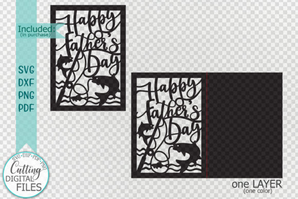 Download Free Happy Father S Day Cut Out Card Graphic By Cornelia Creative Fabrica for Cricut Explore, Silhouette and other cutting machines.