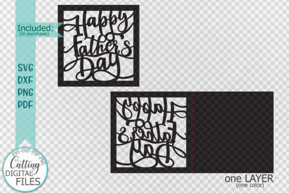 Download Free Happy Father S Day Cut Out Card Graphic By Cornelia Creative for Cricut Explore, Silhouette and other cutting machines.