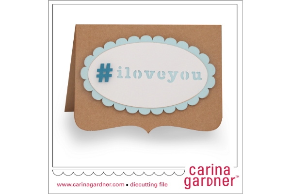 Download Free Hashtag Card Graphic By Carina2 Creative Fabrica for Cricut Explore, Silhouette and other cutting machines.
