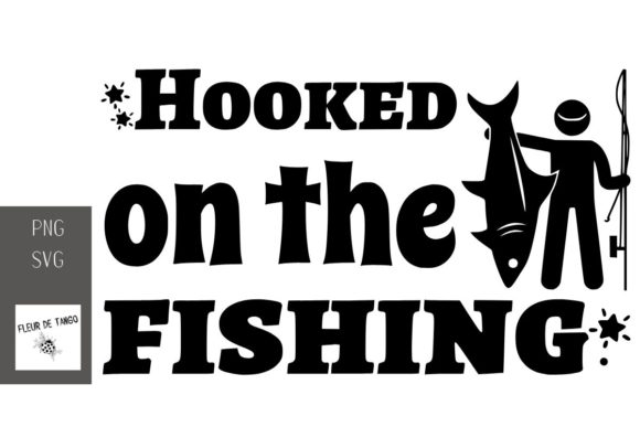 Print on Demand: Hooked on the Fishing Graphic Print Templates By Fleur de Tango