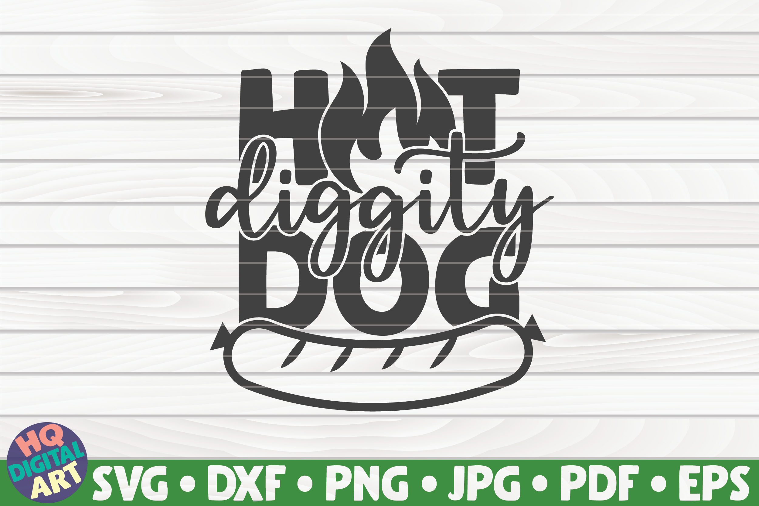 Download Free Hot Diggity Dog Barbecue Quote Graphic By Mihaibadea95 for Cricut Explore, Silhouette and other cutting machines.