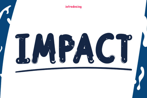 Print on Demand: Impact Display Font By Wanida Toffy
