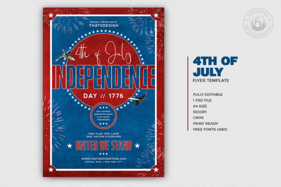 Independence Day Flyer Template V5 Graphic By Thatsdesignstore