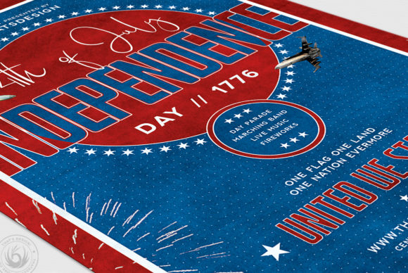 Download Free Independence Day Flyer Template V5 Graphic By Thatsdesignstore for Cricut Explore, Silhouette and other cutting machines.
