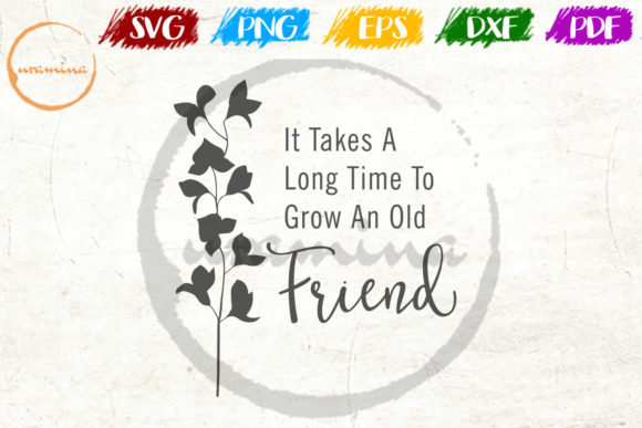 Download Free It Takes A Long Time To Grow Graphic By Uramina Creative Fabrica for Cricut Explore, Silhouette and other cutting machines.