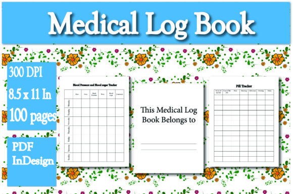 Print on Demand: Kdp Interior Medical Log Book Graphic KDP Interiors By Ivana Prue