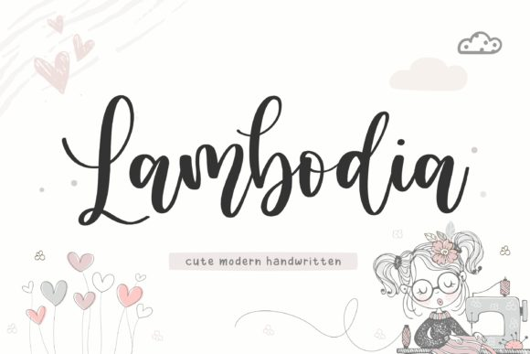Print on Demand: Lambodia Script & Handwritten Font By Balpirick
