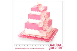 Layered Wedding Cake Graphic 3D SVG By carina2
