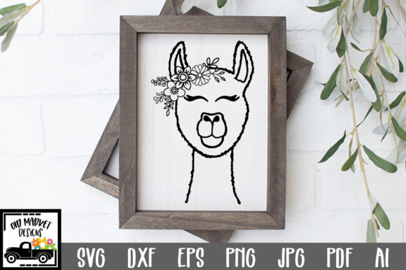 Print on Demand: Llama File - Alpaca Cut File Graphic Crafts By oldmarketdesigns