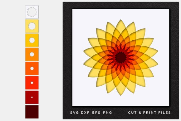 Download Free Mandala 3d Multi Layer Cut File Graphic By 2dooart Creative for Cricut Explore, Silhouette and other cutting machines.