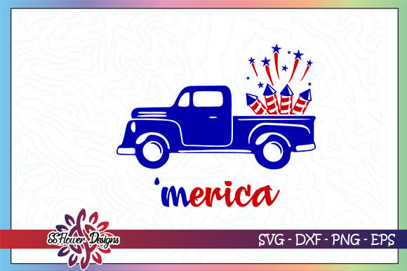 Download Free Meria Truck Fireworks Graphic By Ssflower Creative Fabrica for Cricut Explore, Silhouette and other cutting machines.