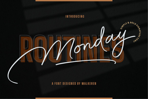 Print on Demand: Monday Routines Script & Handwritten Font By walkeren