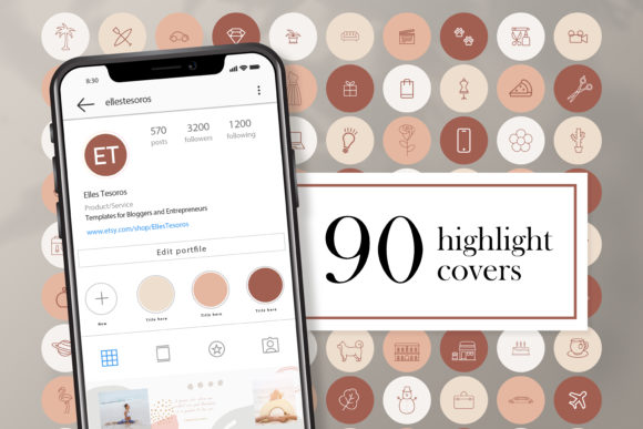 Download Free Naturals Instagram Highlight Covers Graphic By Creativepanda for Cricut Explore, Silhouette and other cutting machines.