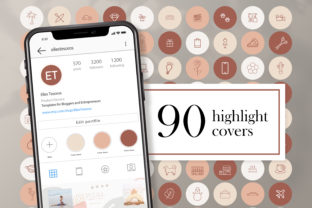 Naturals  Instagram Highlight Covers Graphic Web Elements By CreativePanda