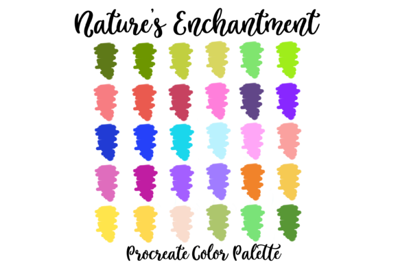 Download Free Nature S Enchantment Procreate Palette Graphic By Am Digital for Cricut Explore, Silhouette and other cutting machines.