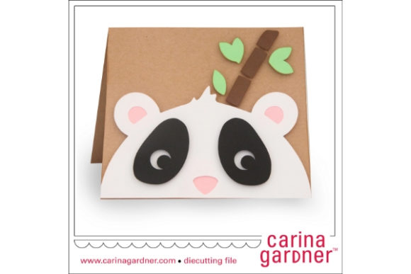 Panda Card Graphic 3D SVG By carina2