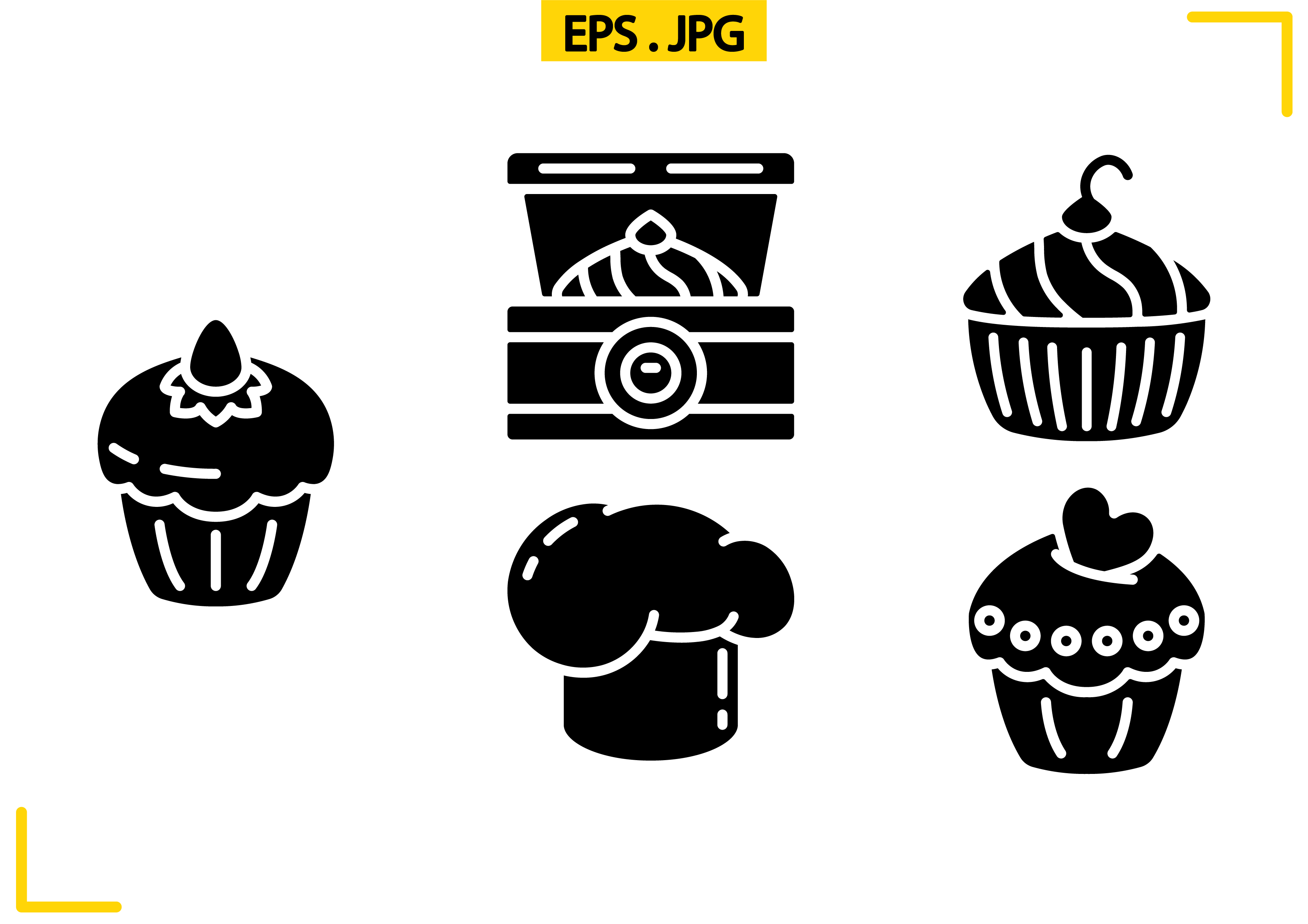 Download Free Patisserie Solid Graphic By Raraden655 Creative Fabrica for Cricut Explore, Silhouette and other cutting machines.