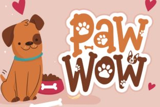 Print on Demand: Paw Wow Display Schriftarten von HansCo