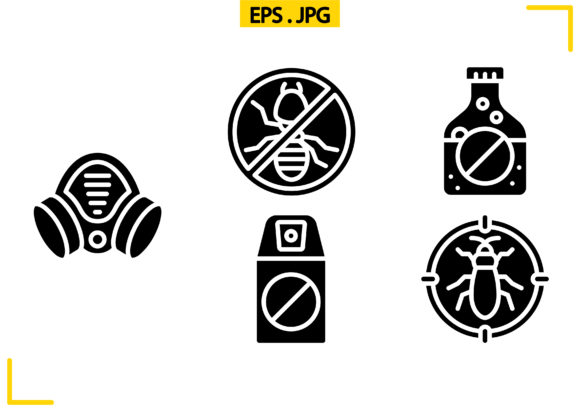 Pest Control Solid Graphic Icons By raraden655