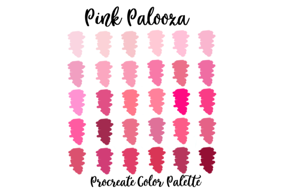 Pink Lovers Procreate Palette Swatches Gráfico Acciones y Pre-ajustes Por AM Digital Designs