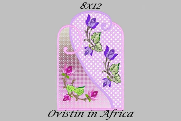 Pink & Purple Floral Applique Placemat Sewing & Crafts Embroidery Design By Ovistin in Africa