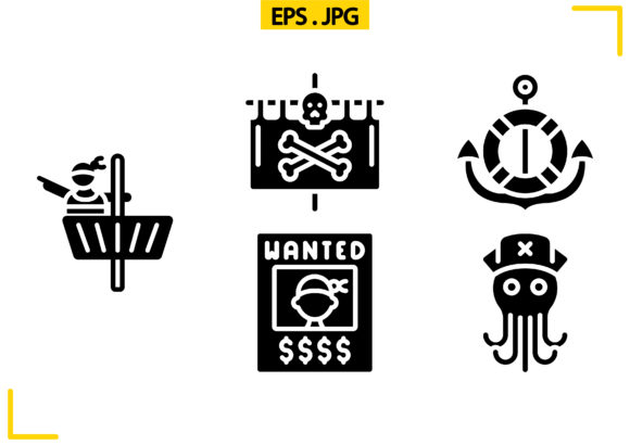 Pirate Life Solid Graphic Icons By raraden655