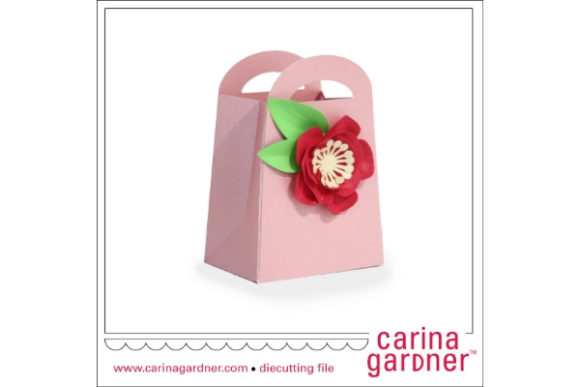 Pretty Flower Favor Bag Graphic 3D SVG By carina2