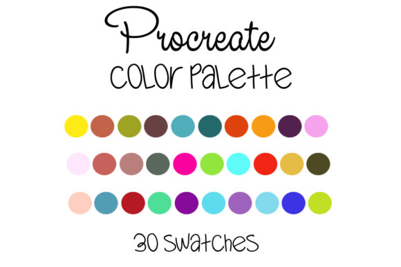 Procreate Color Palette --005 Graphic Add-ons By SweetDesign
