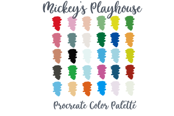 Download Free Procreate Color Palette For Kids Graphic By Am Digital Designs for Cricut Explore, Silhouette and other cutting machines.
